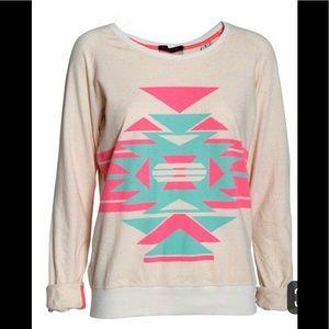 Maison Scotch neon tribal print sweatshirt